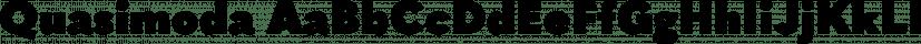 Quasimoda font family by Lettersoup