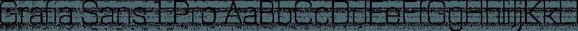 Grafia Sans 1 Pro font family by Vanarchiv
