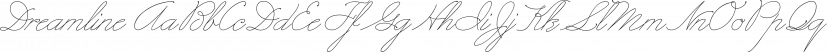 Dreamline font family by Wiescher-Design