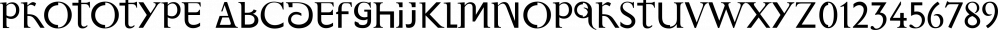 Prototype font family by Barnbrook Fonts