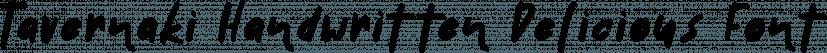 Tavernaki Handwritten Delicious Font font family by Konstantina Louka