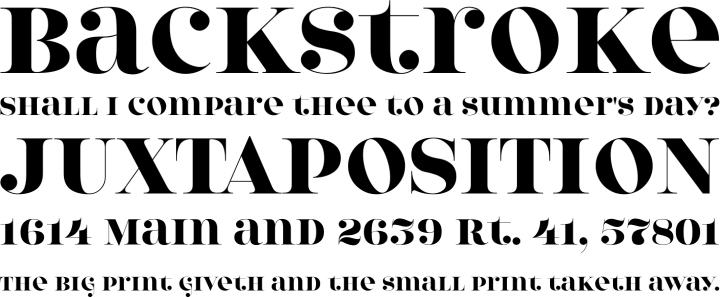 Model 4F Font Phrases