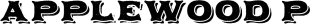 Applewood Pro font family mini