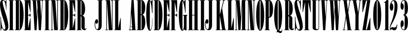 Sidewinder JNL font family by Jeff Levine Fonts