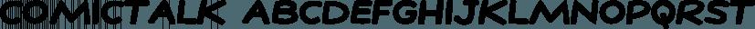 ComicTalk font family by Fonthead Design
