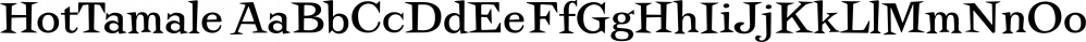 HotTamale font family by Jeff Kahn