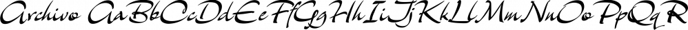 Archivo font family by Scholtz Fonts