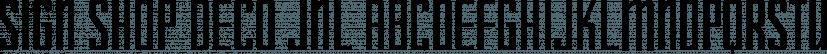 Sign Shop Deco JNL font family by Jeff Levine Fonts