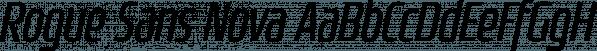 Rogue Sans Nova font family by Device