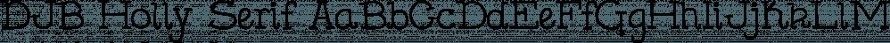 DJB Holly Serif font family by Darcy Baldwin Fonts