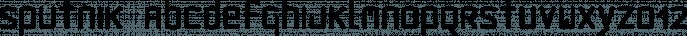 Sputnik font family by Fonthead Design