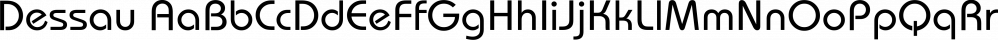 Dessau font family by FontSite Inc.