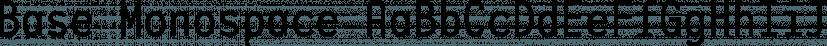 Base Monospace font family by Emigre