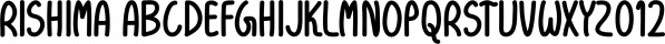 Rishima font family by Seemly Fonts