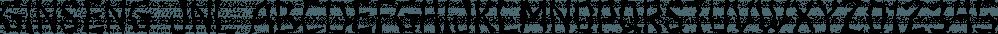 Ginseng JNL font family by Jeff Levine Fonts