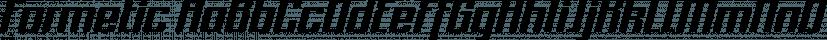 Formetic font family by Bülent Yüksel
