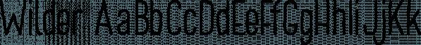Wilder font family by Great Scott