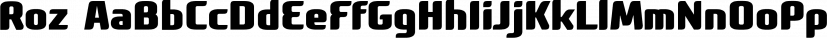 Roz font family by Gaslight