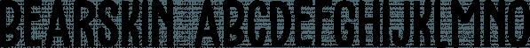 Bearskin font family by Hanoded