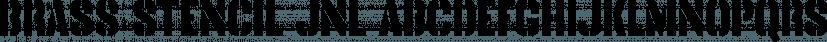 Brass Stencil JNL font family by Jeff Levine Fonts