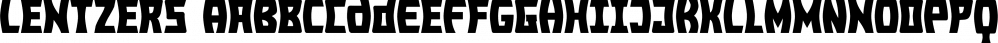 Lentzers font family by Ingrimayne Type