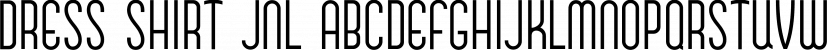 Dress Shirt JNL font family by Jeff Levine Fonts