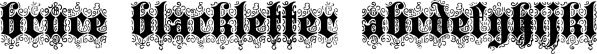 Bruce 532 Blackletter font family by Intellecta Design