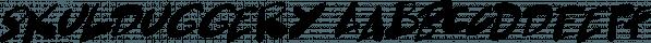 Skulduggery font family by Hanoded