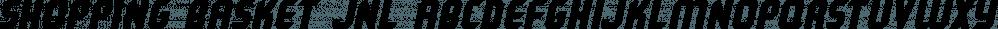 Shopping Basket JNL font family by Jeff Levine Fonts