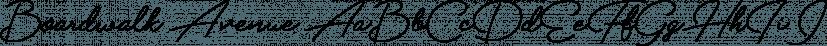 Boardwalk Avenue font family by Fenotype