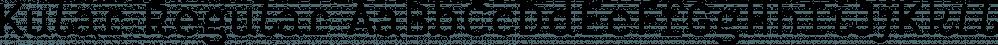 Kular Regular font family by Wilton Foundry