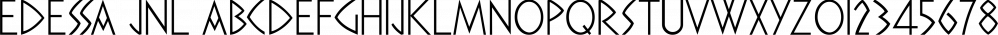 Edessa JNL font family by Jeff Levine Fonts