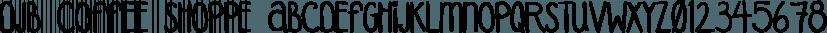 DJB Coffee Shoppe font family by Darcy Baldwin Fonts