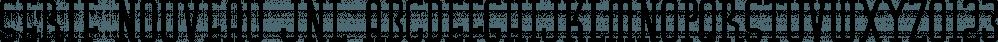 Serif Nouveau JNL font family by Jeff Levine Fonts