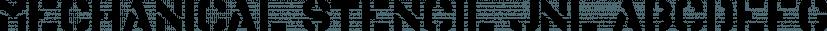 Mechanical Stencil JNL font family by Jeff Levine Fonts