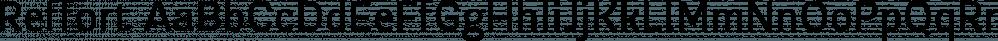 Reffort font family by Locomotype
