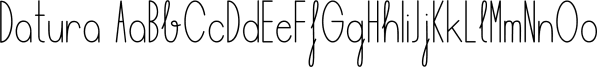 Datura font family by Manuel Ramos
