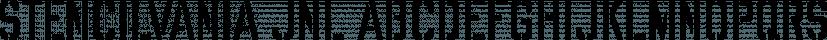 Stencilvania JNL font family by Jeff Levine Fonts