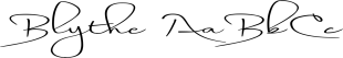 Blythe font family mini