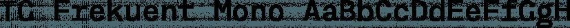 TG Frekuent Mono font family by Tegami Type