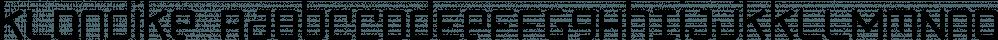 Klondike font family by Fonthead Design
