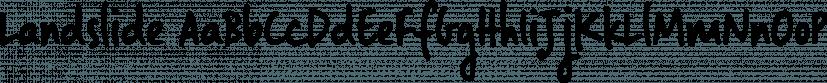 Landslide font family by Ana's Fonts