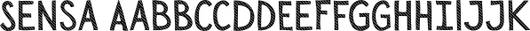 Sensa font family by Fontfabric