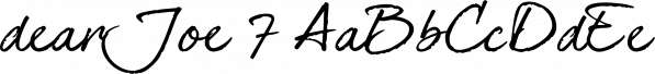 dearJoe 7 font family by JOEBOB Graphics