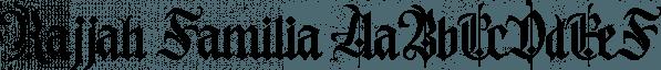 Rajjah Familia font family by Creative Media Lab