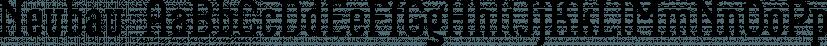 Neubau  font family by TipografiaRamis