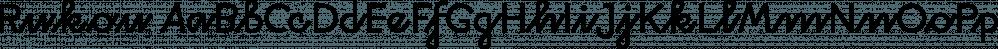Rukou font family by DizajnDesign