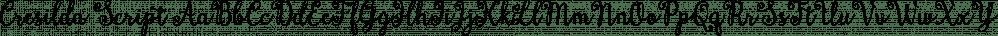 Cresilda Script font family by Seniors Studio