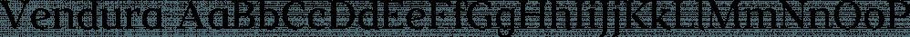 Vendura font family by Marc Lohner