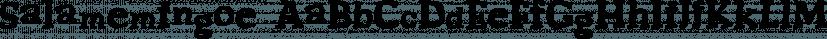 Salamemingoe font family by Intellecta Design